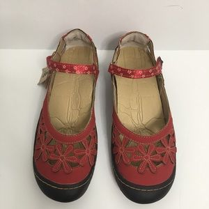 Jeep J-41 Red Mary Jane Shoes